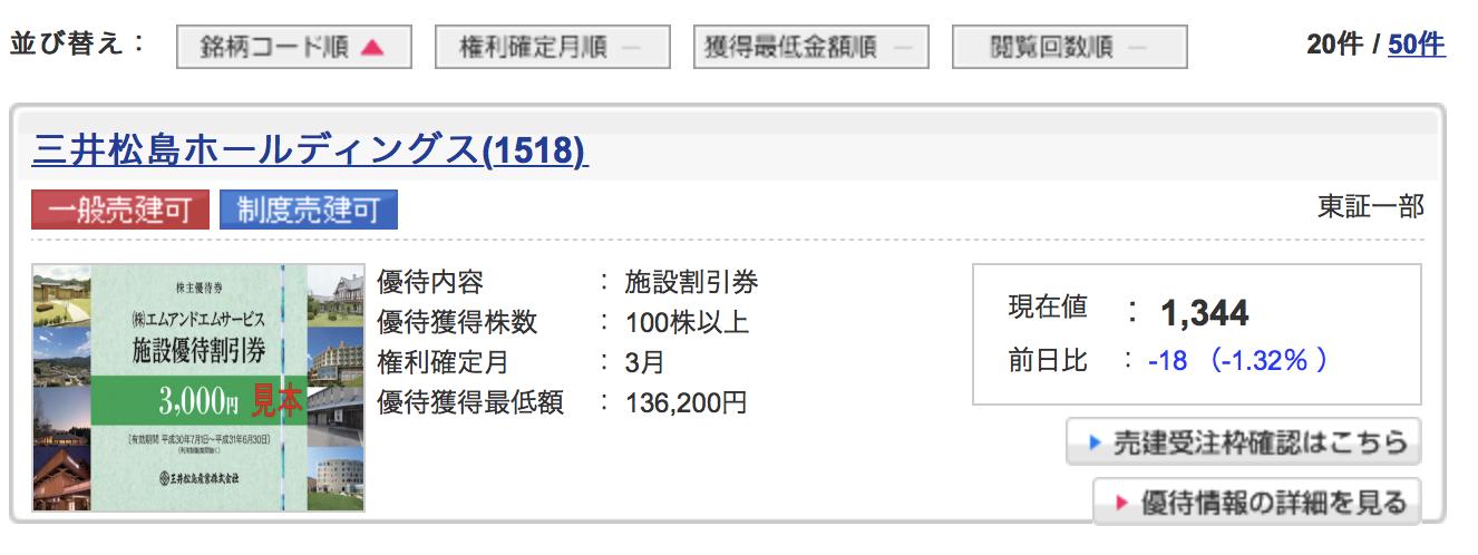 一般信用取引ができる三井松島ホールディングス