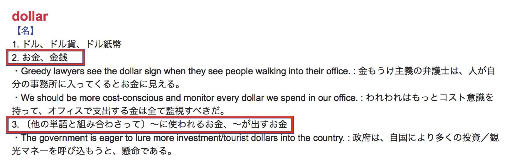 ドルの意味