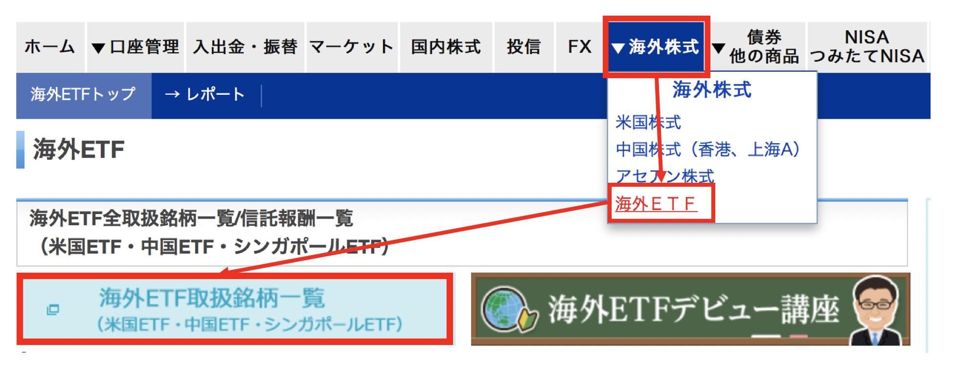 楽天証券でのタイETFの購入方法①