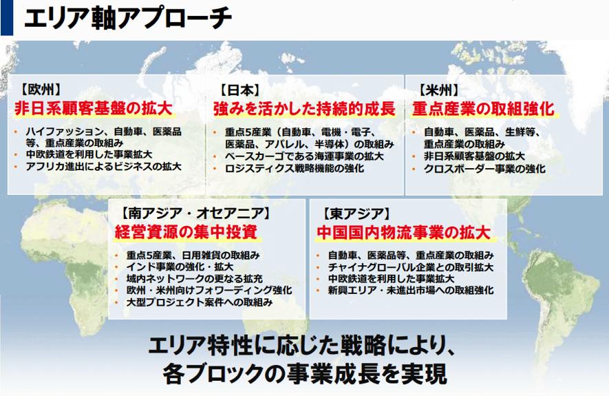 日本通んのエリア毎のアプロージ