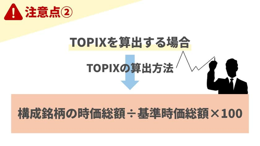 TOPIXは時価総額加重平均指数だが浮動株に限る