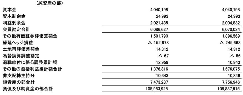 農林中金の純資産