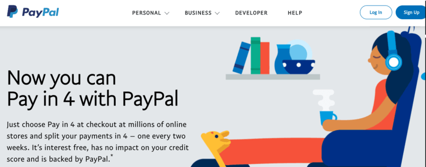 Now you can Pay in 4 with PayPal